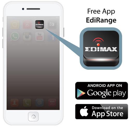 Edimax EW-7438AC Smart AC750 Wi-Fi Extender, Access Point, Wi-Fi Bridge, EdiRange App